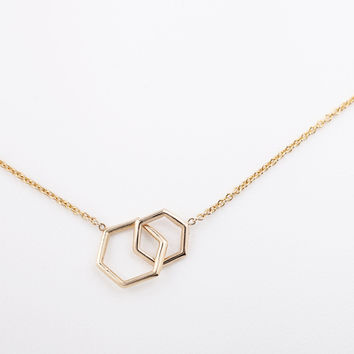 Together Hexagon Necklace