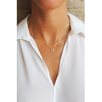 Lucky You Horseshoe Necklace - Christine Elizabeth Jewelry