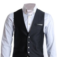 FLATSEVEN Mens Slim Fit Business Casual Premium Vest Waistcoat
