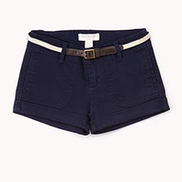 Nautical Cuffed Shorts w/ Belt (Kids)