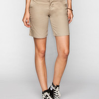 Dickies Stretch Womens Shorts Khaki  In Sizes