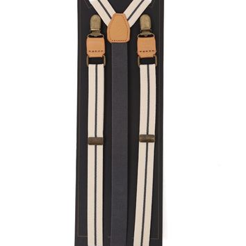 Brixton Preston Braces Suspenders - Mens Snowboard Clothing - Off White - One