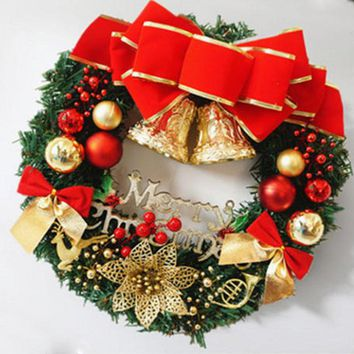 30cm Christmas Large Wreath Door Wall Hanging  Ornament