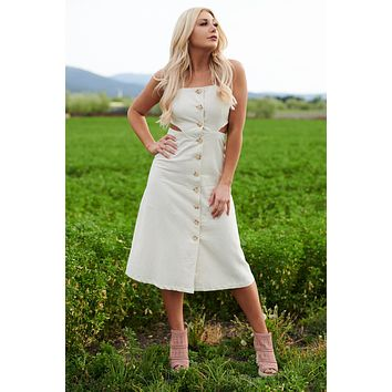 Sweet Desires Dress (Off White)