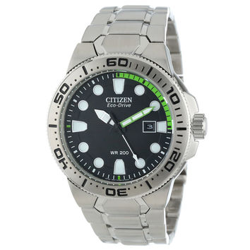 Citizen BN0090-52E Men's Scuba Fin Eco-Drive Black Dial Stainless Steel Dive Watch