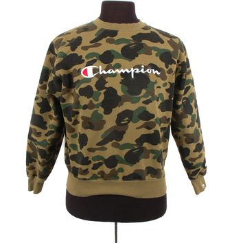 A Bathing Ape x Champion Camo Sweatshirt