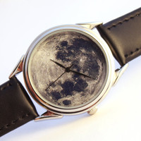 Watch Moon photo, unisex watch, women watch, men wrist watch
