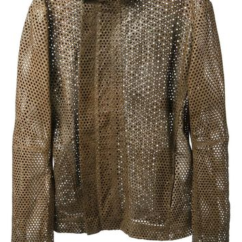 Obscur perforated leather jacket