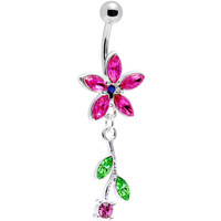 Flower Fun Pink Belly Ring | Body Candy Body Jewelry