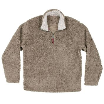 Appalachian Pile Pullover 1/4 Zip in Light Brown by Southern Marsh - FINAL SALE