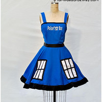 Doctor Who Tardis Retro Style Dress