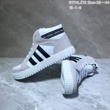 KUYOU A442 Adidas Originals Forum Mid Suede Leather Fashion Skate Shoes White Gray Black