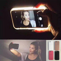 Hot LED Light selfie Phone Case for Iphone 5 5S SE 6 6s 6 Plus 6s Plus Case Light Selfie Led Cover 5 colors + Nice Gift Box