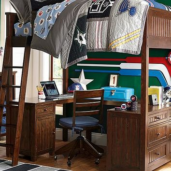 Beadboard Loft NHL Bedroom