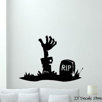 Zombie Hand Wall Decal Walking Dead Vinyl WallSticker Horror Poster Decor Removable Art Mural For Living Room Home Decor L503