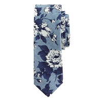 COTTON TIE IN LIBERTY CHAMBRAY FLORAL