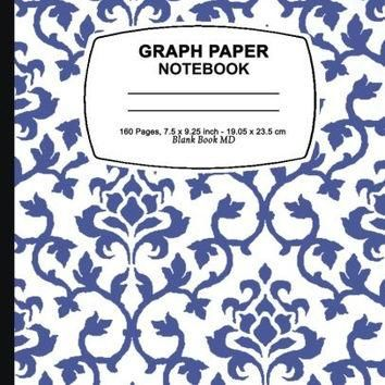 graph paper composition book: Purple Damask Design,Graph Paper Notebook and Conversion
