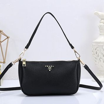 Prada Women Fashion Leather Handbag Tote Crossbody Satchel Shoulder Bag