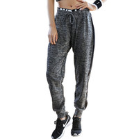 Women's Loose Harem Pants Workout Fitness Trousers Letter Print Casual Pants Ventilation Tie Sweatpants Women Pantalon femme 139
