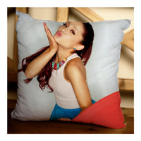 Ariana Grande Hot Kiss Design Custom Pillow Case for Home Decor or Bedroom in 16x16 & 18x18 inches