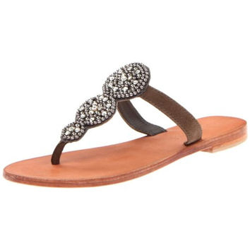 Charles David Womens Uptown Suede Embellished Thong Sandals