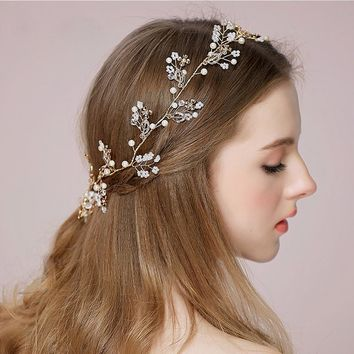 Beaded Hair/Head Bridal Accessories