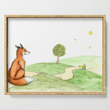 The little Prince and the Fox Serving Tray by savousepate