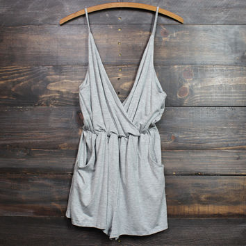 perfect summer romper in grey