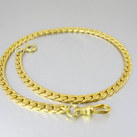 Vintage Pocket Watch Chain. Art Deco 14K Yellow Gold Filled Double S Link Watch Chain. Mens 1930s Accessories.