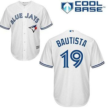 Jose Bautista Toronto Blue Jays #19 MLB Youth Cool Base Home Jersey (Youth Medium 10/12)