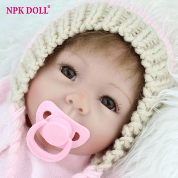 55cm Silicone Vinyl Reborn Baby Doll Toy Lifelike Pink Princess New born Toddler Doll-Reborn Girl Child Brithday Gift Brinquedos