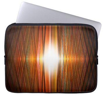 Starburst grid laptop sleeve
