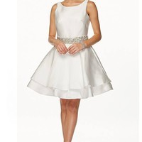 Satin Short Cocktail Beach Wedding Dress 105-773w