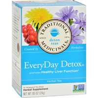 Traditional Medicinals Everyday Detox Herbal Tea - 16 Tea Bags