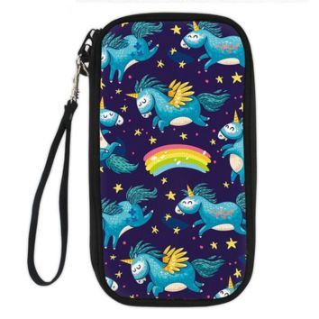 Unicorn Clutch Wallet (purple winged unicorn)