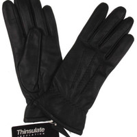 Jaclyn Smith Leather Driving Dress Gloves 3M Thinsulate Lined Womens Winter NEW