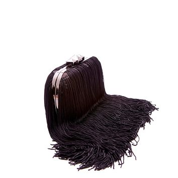 Fringe Clutch - Black
