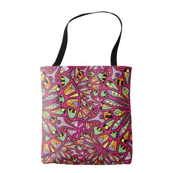 Kaleidoscopic Multicolored Abstract Pattern Tote Bag