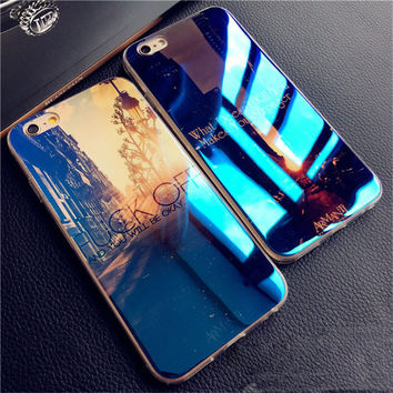 Luxury Blue-ray Silicone iPhone case