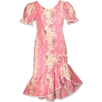Kuulei Pink Makani Hawaiian Muumuu Dress