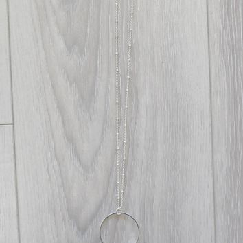 All Eyes On You Necklace - Silver