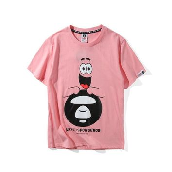 'AAPE' Casual Short Sleeve Summer Cartoons Stylish Plus Size T-shirts [211446628364]