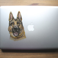 Custom pet portrait laptop clear vinyl decal (must be purchased with commissioned painting or drawing)
