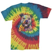 Beware Of Pit Bulls, They Will Steal Your Heart  Mens Tie-Dye T-shirt