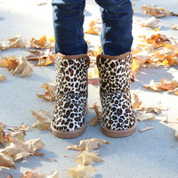 Leopard Comfy Boots - Ryleigh Rue Clothing by MVB