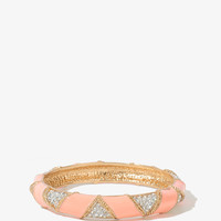 Lacquered Triangle Bracelet