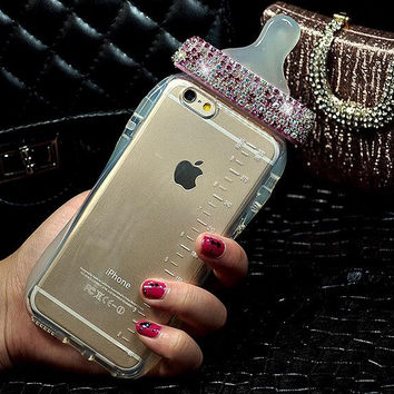 Best Protection Twinkle Rhinestone Nipple iPhone 7 7 Plus & iPhone 6 6s Plus & iPhone 5s se Case Personal Tailor Cover + Gift Box