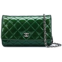 Chanel Vintage Quilted Chain Wallet - Bella Bag - Farfetch.com