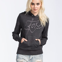 Fox Royal Womens Hoodie Heather Black  In Sizes