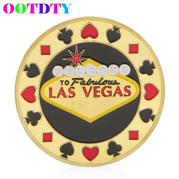 Las Vegas Poker Style Souvenir Zinc Alloy Commemorative Coin Collection Non-currency Coins Gifts MY16_30